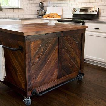 Vintage Wood Kitchen Island