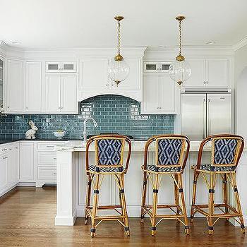 Miscellaneous Blue White Kitchen Tiles Interior