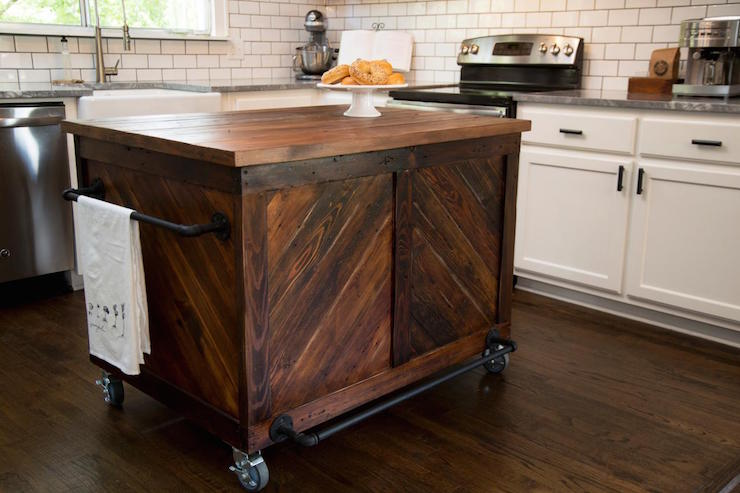 vintage wood kitchen island country kitchen hgtv
