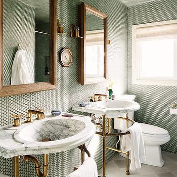 Pics for dark green marble bathroom for Dark green bathroom accessories