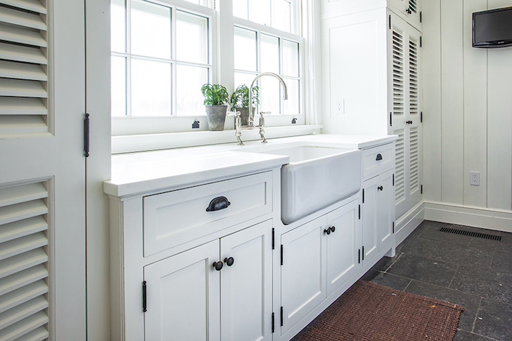 Laundry Room With Farmhouse Sink
