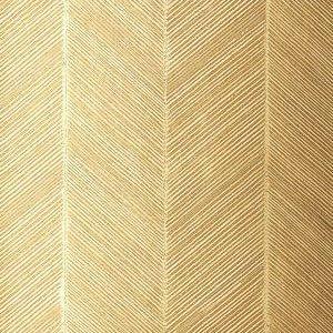 Schumacher Chevron Texture White Gold Wallpaper