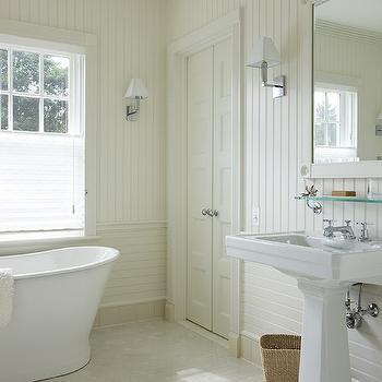 Bathroom With Beadboard Backsplash