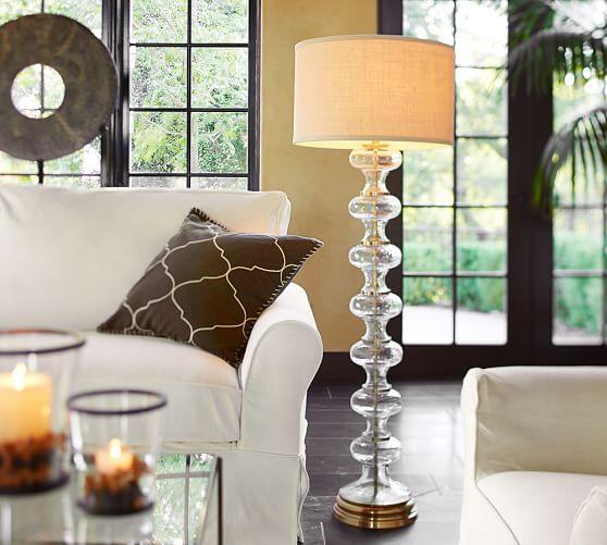 Jasmine clear glass floor lamp base