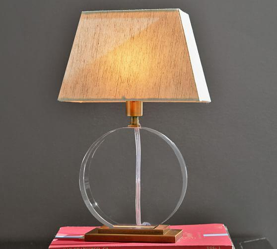 Pottery Barn Marston Lamp: Bancroft Clear Crystal Lamp