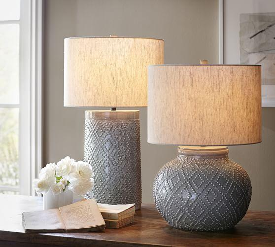 Charlotte Gray Ceramic Table Lamp Bases