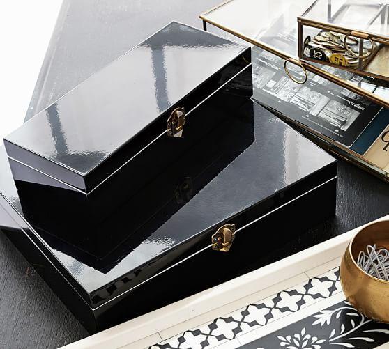 Threshold Black Laquer Jewelry Box