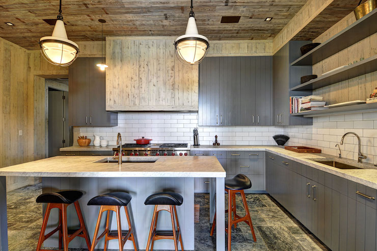 attractive Room And Board Kitchen Island #5: Barn Board Kitchen Hood view full size
