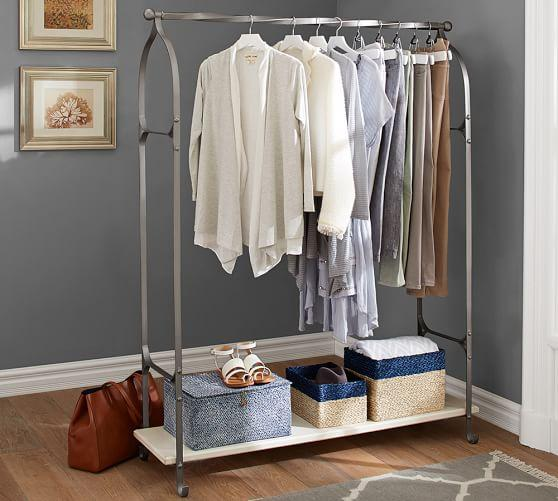 New York Closet Pewter Clothes Rack Adorable Coat Rack Nyc