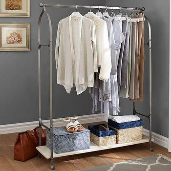 Clea Pipe Grey Clothes Rack