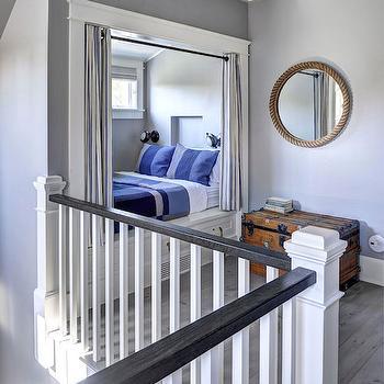 Cottage Kids Bed Nook with Grommet Curtains, Cottage, Boy's Room, John Hummel