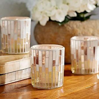 Mosaic Votive Cups, Set of 3