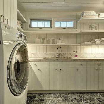 Long Floating Laundry Shelves