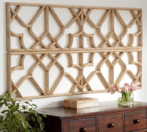 Lattice Tan Wall Art