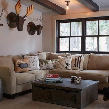 Cabin Living Room Design, Country, Living Room, Artistic Designs for Living