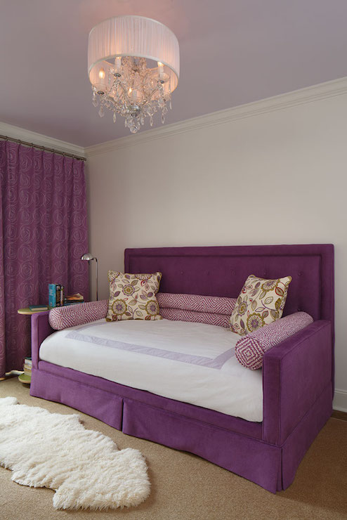 Purple Daybed With Headboard Contemporary Girl S Room