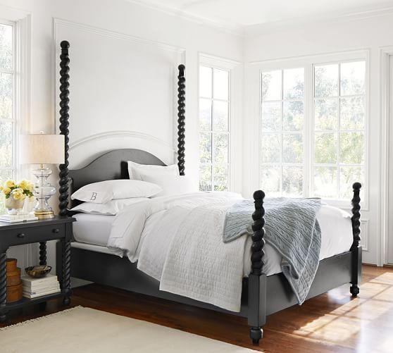 Stinson Black Wood Bed