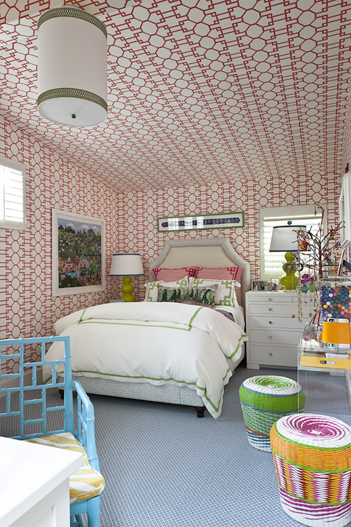 Bubble Gum Pink Kids Walls Design Ideas