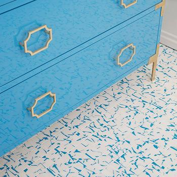 Turquoise Lacquer Washstand, Contemporary, Bathroom, Artistic Designs for Living