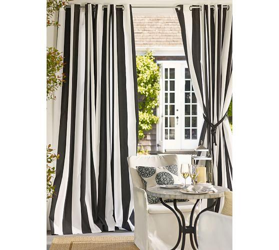 Window treatments pinch pleat curtains - Rideau noir et blanc design ...