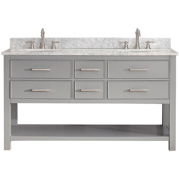 avanity brooks chilled grey 60 inch vanity combo - 60 Inch Vanity