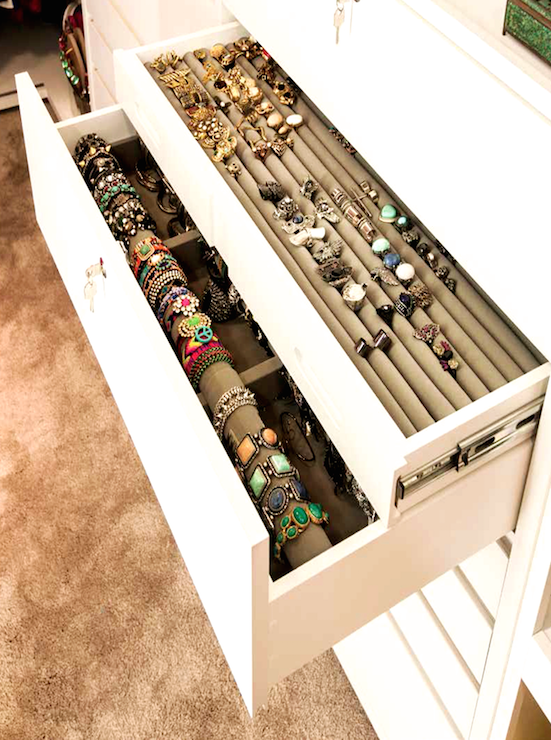 Built In Jewelry Drawers Design Ideas