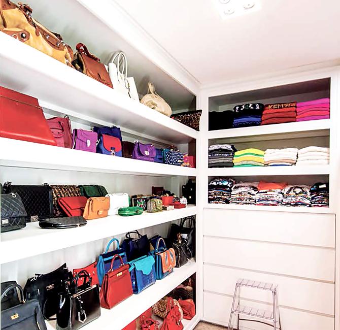 Handbag Closet - Contemporary - closet - The Coveteur