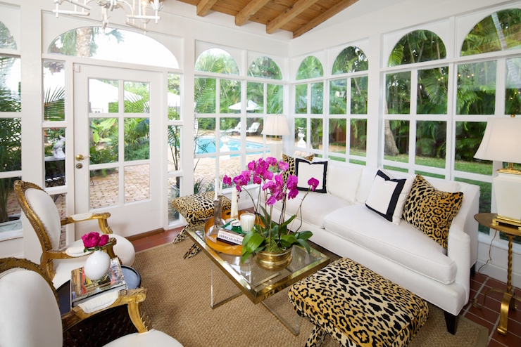 Leopard X Stools - Transitional - Living Room - Luxe Report