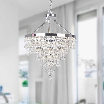 Claudia Chrome 4-light Chandelier with Crystal Glass Drop