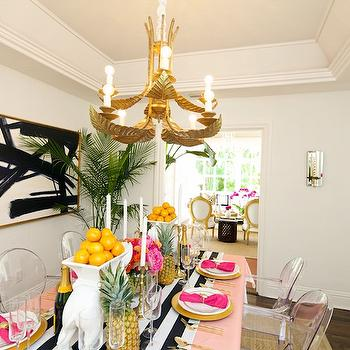 Dining Room with Tray Ceiling, Contemporary, Dining Room, Luxe Report