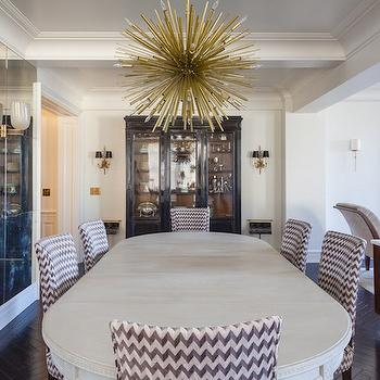 White Oval Dining Table, Contemporary, Dining Room, Vella Interiors