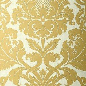 Gold Damask Duchess Kenneth James Wallpaper