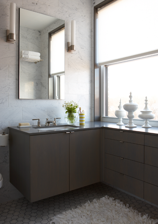Floating Bathroom Vanity - Contemporary - Bathroom - Weitzman Halpern ...