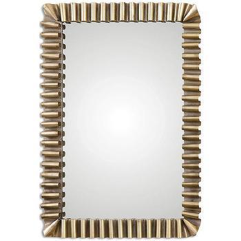Sori Scalloped Metal Mirror