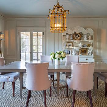 pagoda chandelier - french - dining room - style at home