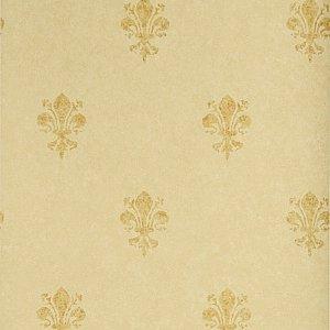 Stroheim Gold Fleur De Lys Wallpaper