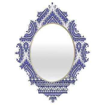 Decorative Blue Baroque Mirror