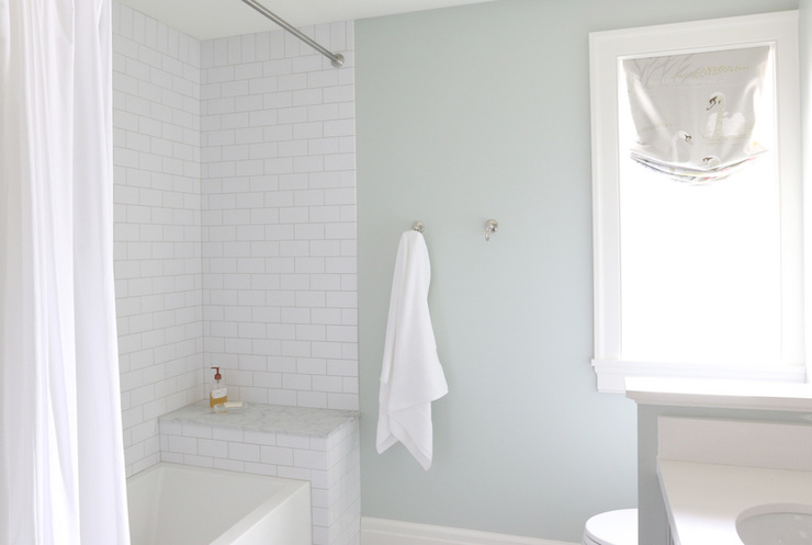 Soothing Paint Colors For Bathrooms Transitional