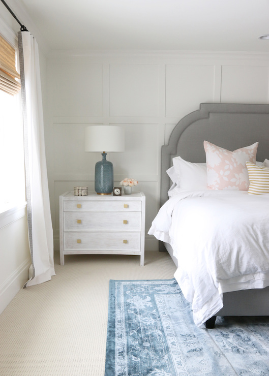 Board And Batten Accent Wall Transitional Bedroom
