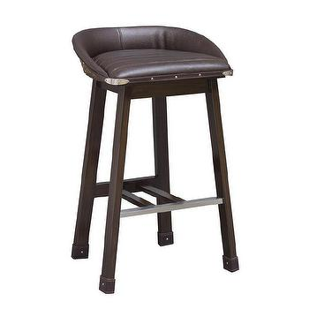 Porter Leather Bar Counter Stool Ivory West Elm