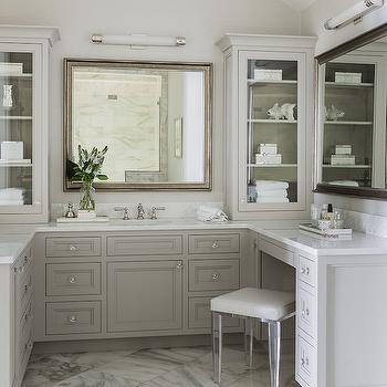 Anita clark design lucite vanity stool