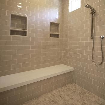 Gray Shower Floor Tiles Design Decor Photos Pictures