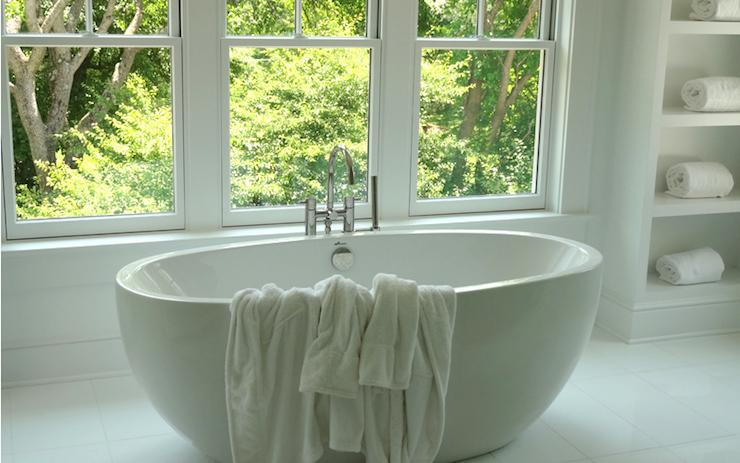 BW-01-L - Egg Shaped Modern Stone Resin Freestanding Bathtub modern-bathroom