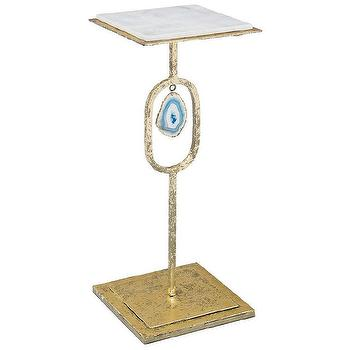Regina Andrew Furniture Teal Agate Item Display Table