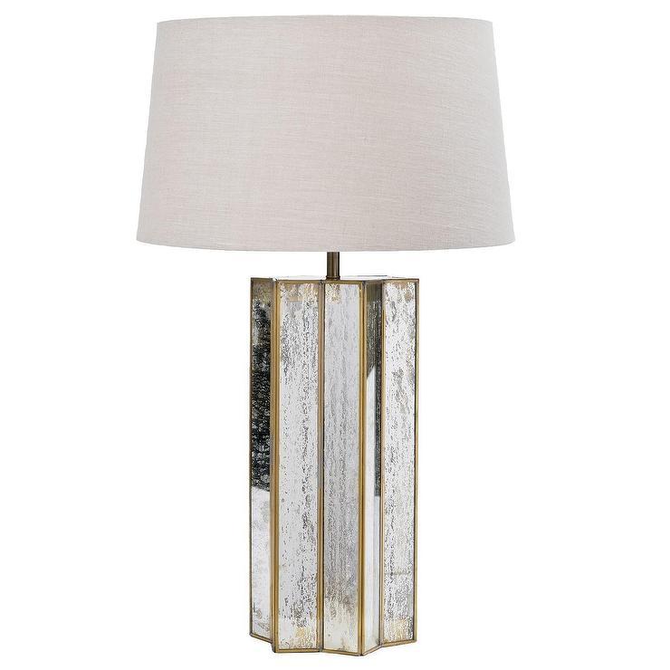 Regina Andrew Lighting Star Shaped Antique Mercury Silver Table Lamp