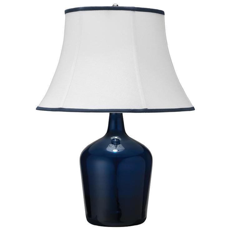Jamie Young Plum Navy Blue Medium Jar Table Lamp