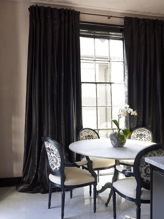 White And Black Dining Rooms