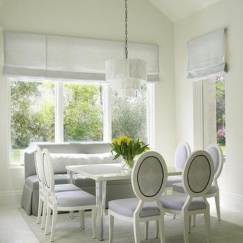 Dining Table with Acrylic Legs, Transitional, Dining Room