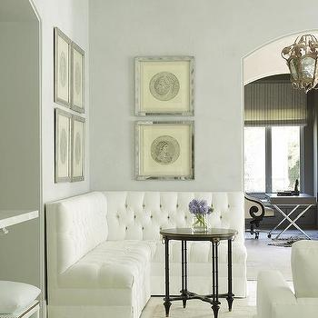 L Shaped Tufted Banquette