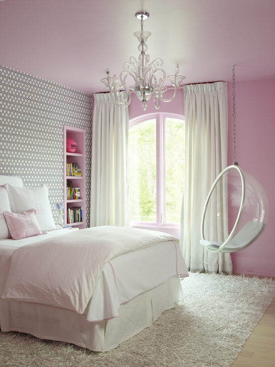 Pink and Gray Kids Bedroom - Contemporary - Girl\'s Room